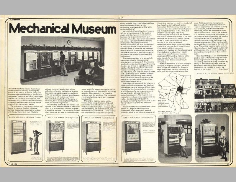 Rhode Island School Of Design Mechanical Museum Allan Wexler
