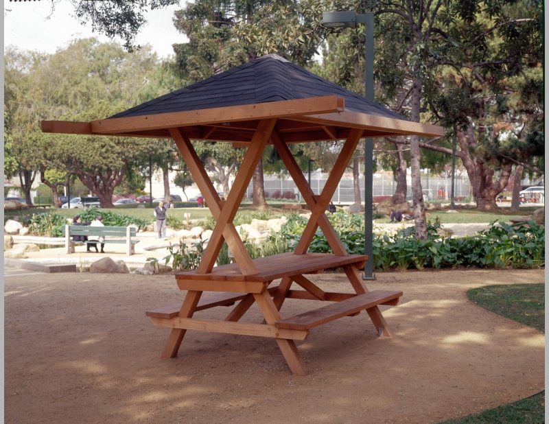 Picnic Table with Roof