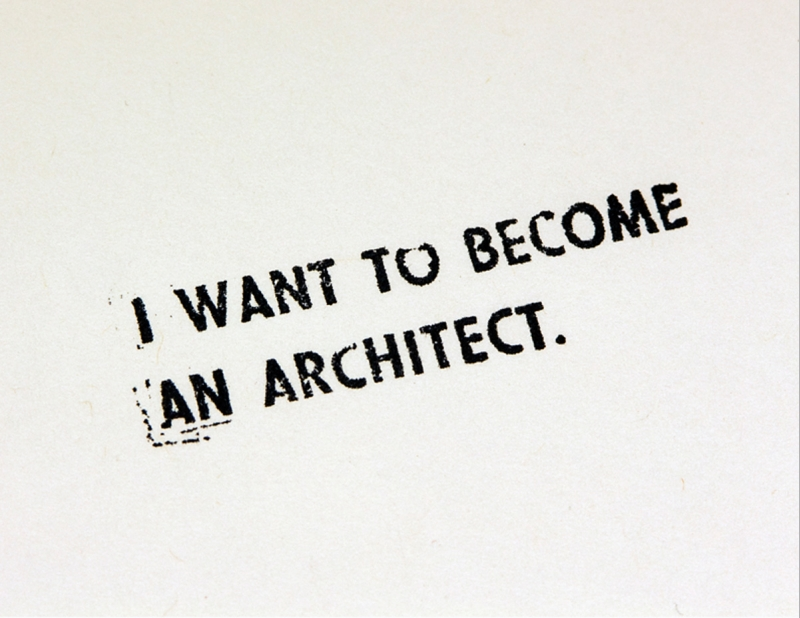 Bon I Want To Become An Architect 1971