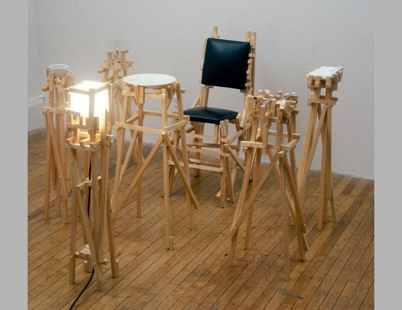 Contemporary art furniture Sculptural La Jolla Museum Of Contemporary Art 1988 Allan Wexler Scaffold Furniture Allan Wexler