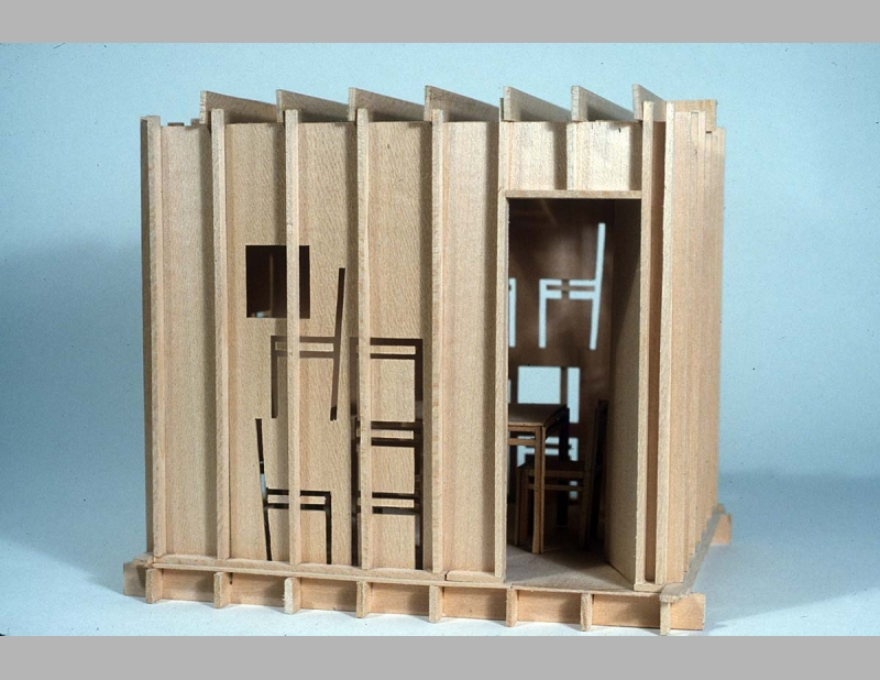 Sukkah With Furniture Made From Its Walls Allan Wexler